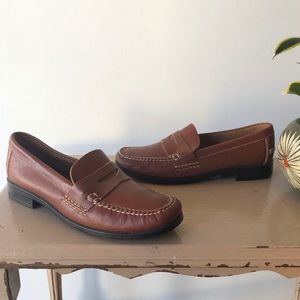 Bass Weejuns Brown Leather Penny Loafers Classic
